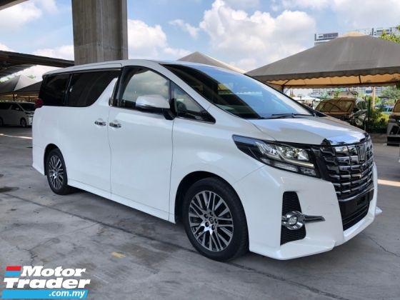 2017 TOYOTA ALPHARD 2.5 SC JBL Theater Original 360 Surround Camera Pre Crash Pilot Seat Power Boot 2 Power Door Unreg