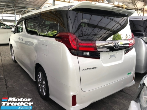 2017 TOYOTA ALPHARD 2.5 SA Type Black 360 Camera Power Boot 2 Power Doors Half Leather Full LED Keyless Go 9 Air Bag