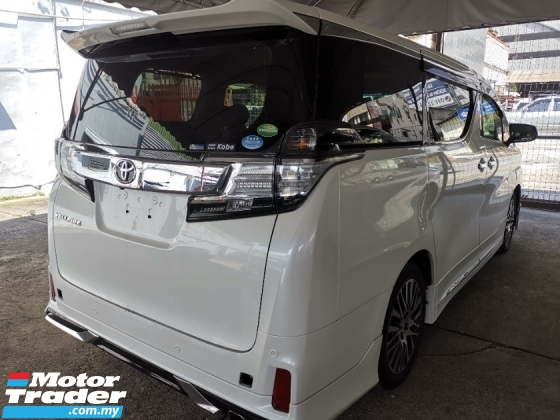 2016 TOYOTA VELLFIRE Toyota Vellfire 2.5 ZG with Pilot leather seat and JBL
