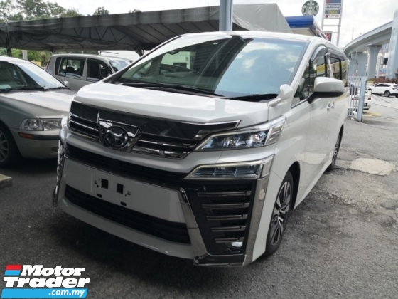 2018 TOYOTA VELLFIRE 2.5 ZG 2 LEDs Headlamp INC SST 3 YEARS WARRANTY Unreg