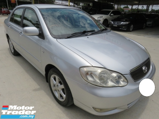 2003 TOYOTA ALTIS 1.8 (A) G SPEC ONE CAREFUL OWNER CD DVD PLAYER