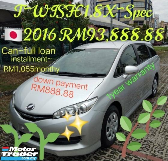 2016 TOYOTA WISH 1.8X YEAR2016 RECON P~RM93,88.88~OTR 1y warranty  full includes