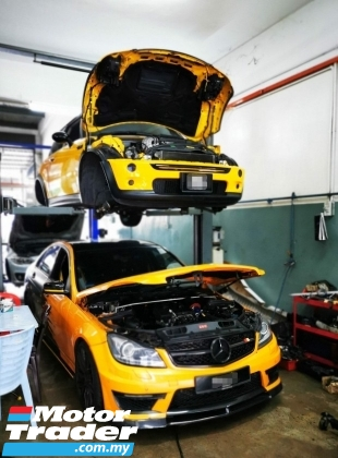 MERCEDES BENZ WORKSHOP BENGKEL KERETA SPECIALIST REPAIR AND SERVICE CONTINENTAL JAPAN CAR REPAIRER AIRCOND ENGINE GEARBOX