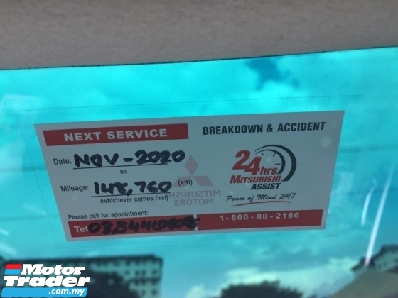2011 MITSUBISHI PAJERO GS 2.5 diesel turbo (a) full service record