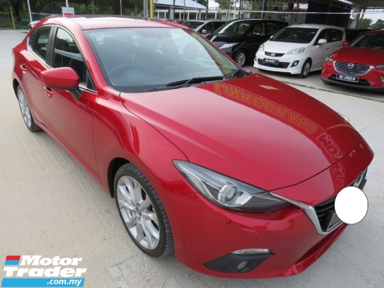 2016 MAZDA 3 2.0 (A) SDN ONE OWNER FULL SPEC HIGH LOAN LIKE NEW