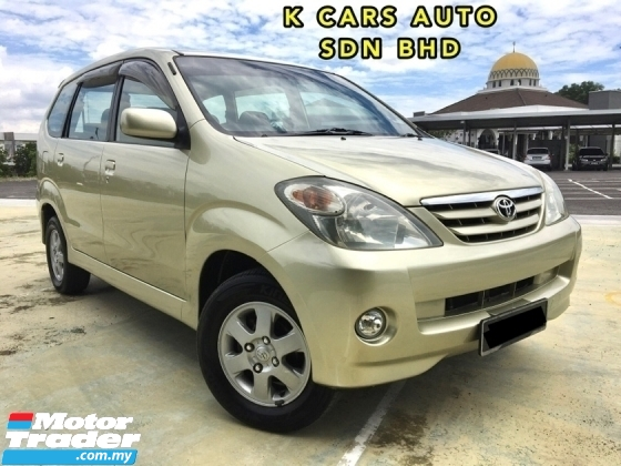 2007 TOYOTA AVANZA 1.3 E (A) TIPTOP CONDITION 1 OWNER ONTHEROAD PRICE