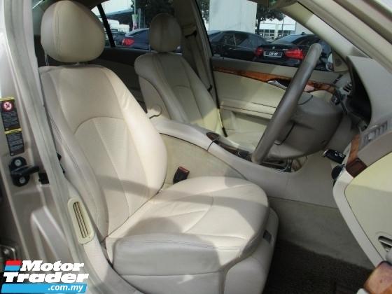 2006 MERCEDES-BENZ E-CLASS E200 1.8 (A) W211 Local Comfort Conti car