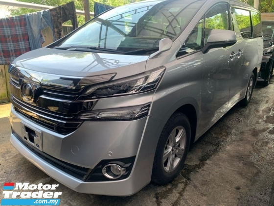 2017 TOYOTA VELLFIRE 2.5 X Unreg 2Pwr Door Pwr Boot 4Camera Android PCS