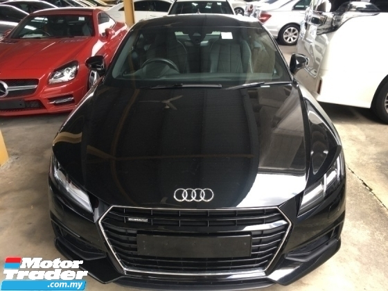 2017 AUDI TT 2.0 TUBRO TFSI S LINE  230HP LOW MILARGE