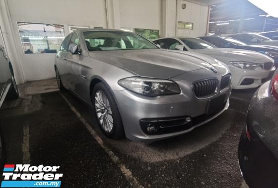 2014 BMW 5 SERIES BMW 5 SERIES 520I LUXURY FACELIFT LIGHTBAR 2014 JAPAN UNREG LEATHER SEAT KEYLESS FREE WARRANTY