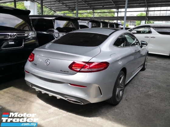 2017 MERCEDES-BENZ C-CLASS C200 2.0 AMG Coupe BURMESTER SOUND INC SST 2 YEARS WARRANTY Panoramic Roof Unreg