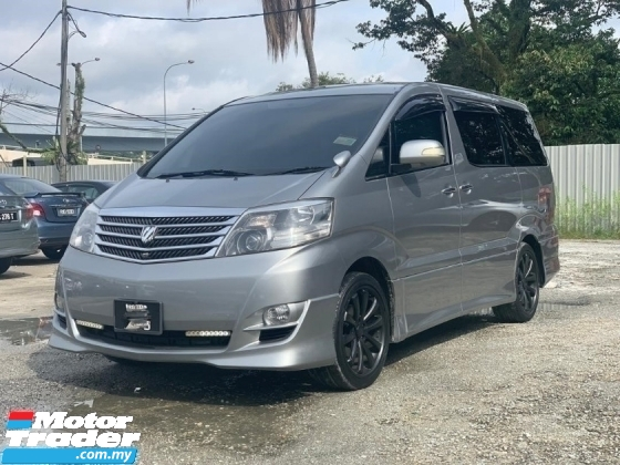 2007 TOYOTA ALPHARD 240G FACELIFT 7 SEAT MOONROOF HOME THEATER AS SPEC