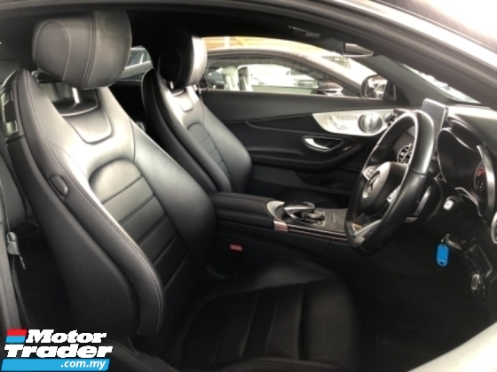 2018 MERCEDES-BENZ C-CLASS Unreg Mercedes Benz C200 2.0 AMG Coupe Turbo Camera Panaromic Roof Power Boot LED Light Paddle Shift