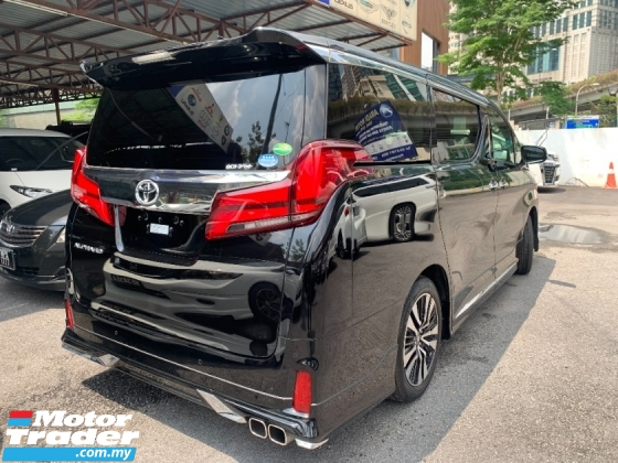 2018 TOYOTA ALPHARD 2.5 SC (PROMOTION PRICE ) SUNROOF DIM LEATHER PILOT SEATS 3 POWER DOOR UNREG