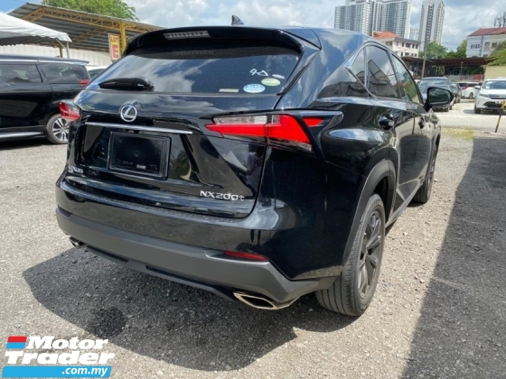 2015 LEXUS NX 200T F SPORT SUNROOF UNREGS
