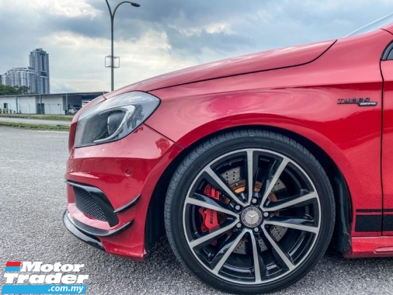 2014 MERCEDES-BENZ A-CLASS A180 1.6 AMG A45 BODYKIT WITH CANARD EXHAUST SYSTEM AMG CALIPER PRE CRASH