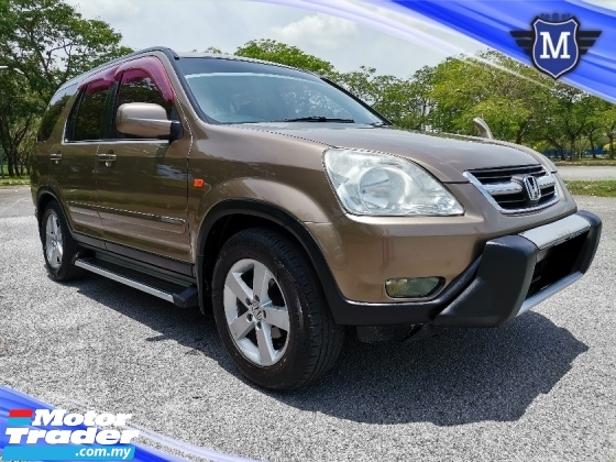 2003 HONDA CR-V 2.0 (A) i-VTEC SUV REVERSE CAMERA LEATHER SEAT SUNROOF WELL MAINTAIN