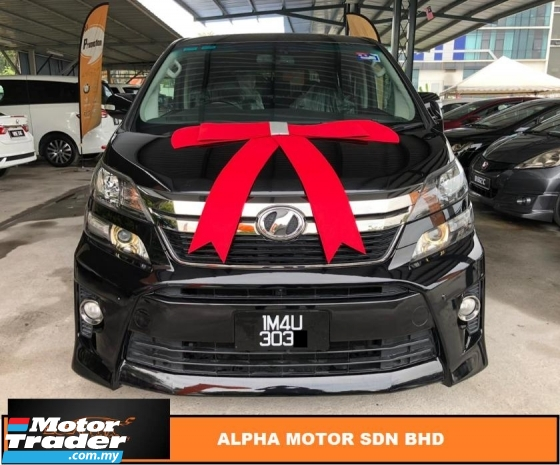 2012 TOYOTA VELLFIRE 2.4 Z GOLDEN EYES FACELIFT (A) NO PROCESSING FEE