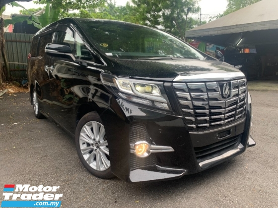 2017 TOYOTA ALPHARD 2.5 SA (PROMOTION PRICE WIT SST) 2 POWER DOOR 7 SEATER  CAMERA BIG PLAYER UNREG