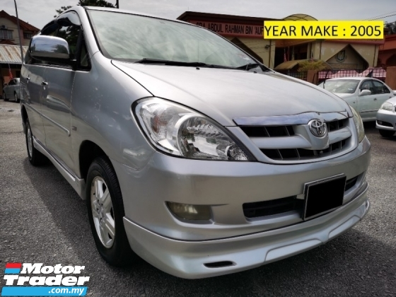 2005 TOYOTA INNOVA 2.0 G (A) 1 OWNER - FULL BODYKIT - PERFECT NEW
