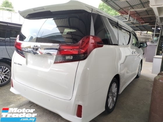2017 TOYOTA ALPHARD 2.5 s pre crash system power boot dvd player rear monitor price inclusive sst free 3 year warranty