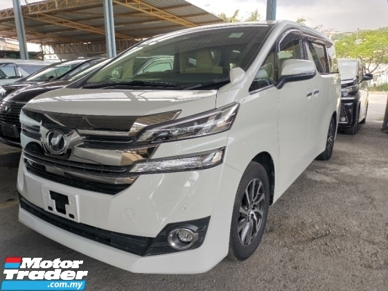 2017 TOYOTA VELLFIRE 2.5 V 8 Seater Electric Seat Power Boot 360 Camera