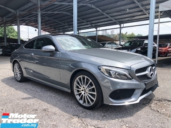 2018 MERCEDES-BENZ C-CLASS C200 AMG Coupe 2.0 Turbo Panoramic Roof Keyless Go Push Start Button Memory Bucket Seat Power Boot