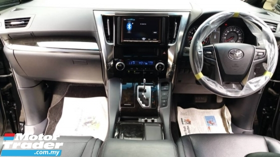 2015 TOYOTA ALPHARD 2.5 SC BLACK WITH SUNROOF SPEC LEATHER WITH HEATER