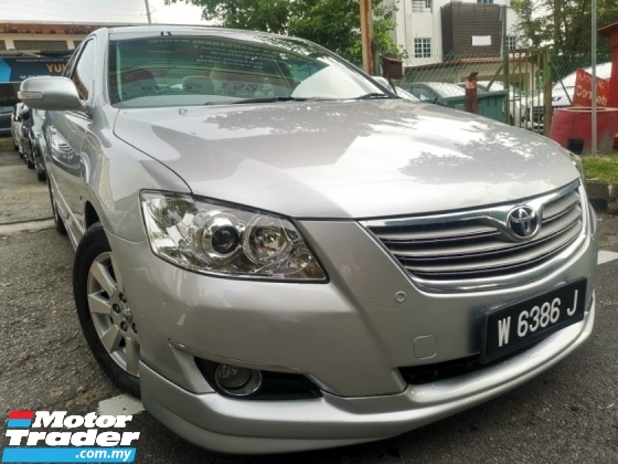 2008 TOYOTA CAMRY Toyota CAMRY 2.0 E FACELIFT (A) FULL BODYKIT 1 OWNER