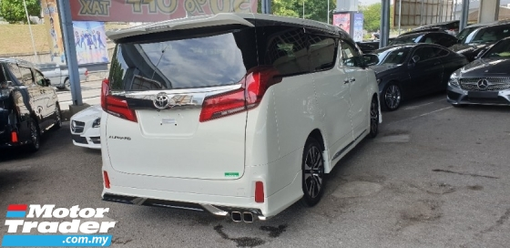 2018 TOYOTA ALPHARD 2.5 SC 3 LED HOME THEATER BLIND SPOT NO HIDDEN CHARGES
