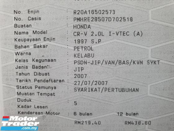 2007 HONDA CR-V 2.0 i-VTEC *Side Step*