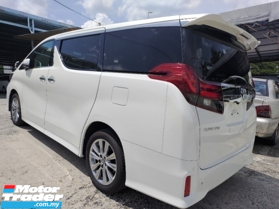 2017 TOYOTA ALPHARD 2.5 TAPE BLACK SPEC SUNROOF POWER BOOT 360 SURROUND CAMERA PRICE INCLUSIVE SST FREE 2 YEAR WARRANTY