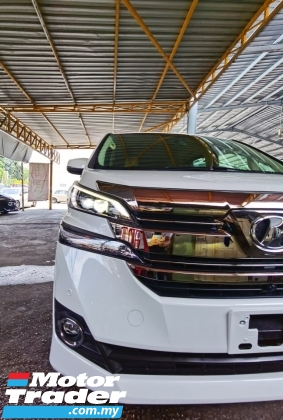 2017 TOYOTA VELLFIRE 2.5 V SPEC 8 SEATERS POWER DOORS ORI POWER BOOTH 4 CAMERA ANDROID PLAYER 2017 UNREG JAPAN FREE GMR