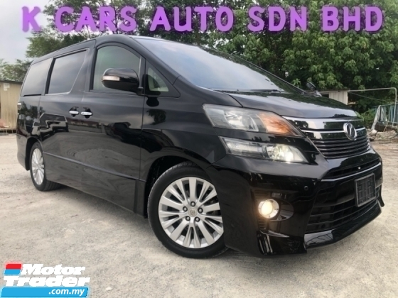 2014 TOYOTA VELLFIRE 2.4 ZG (A) P/SEAT SUNROOF GOOD CONDITION OTR
