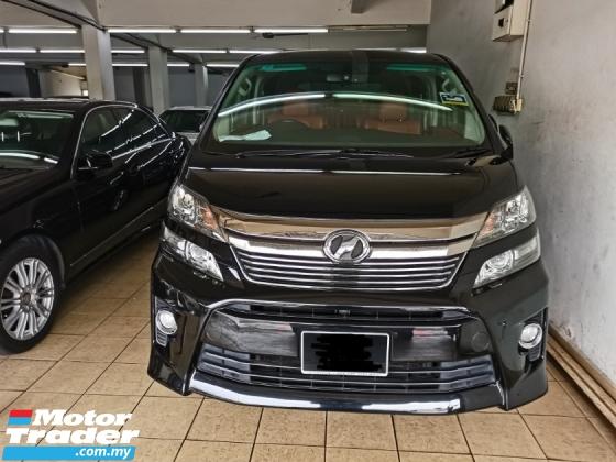 2013 TOYOTA VELLFIRE 2013 Toyota VELLFIRE 3.5 Z G FACELIFT (A) REG 2014