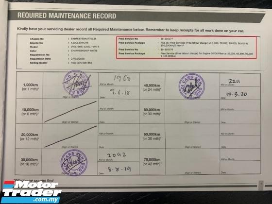 2017 HONDA CIVIC 2.0 TYPE R VTEC TURBO (M) HONDA MALYSIA WARRANTY