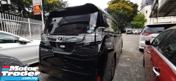 2017 TOYOTA VELLFIRE 2.5 ZG / SUNROOF / TIPTOP LOW MILEAGE / READY STOCK