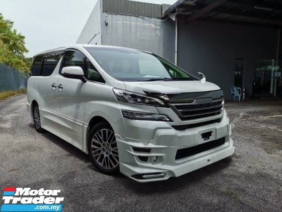 2017 TOYOTA VELLFIRE 2.5 ZG TRD Bodykit JBL Home Theater Sound Unreg