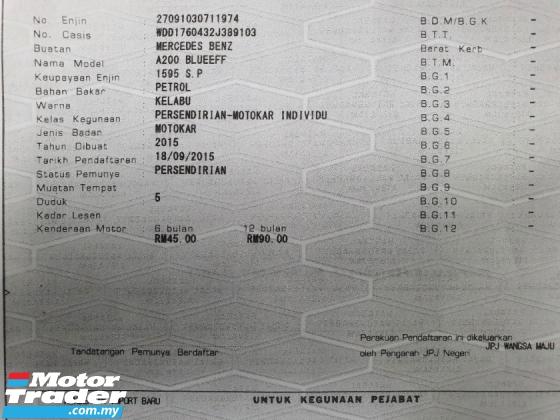 2015 MERCEDES-BENZ A-CLASS A200 1.6 (A) *Done 15K KM* AMG
