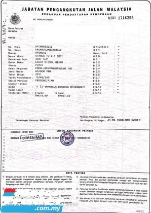 2011 HYUNDAI GRAND STAREX 2.5 ROYALE (A)