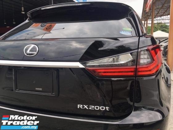 2017 LEXUS RX 200T RX200T 2.0 TURBO (UNREG) INT CLASSIC BEIGE GOOD CONDITION FOC 3 YEAR WRT