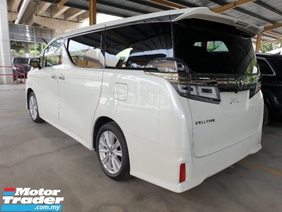2018 TOYOTA VELLFIRE 2.5 Z Spec FACELIFT 7 Seater 2 Power Door Unreg