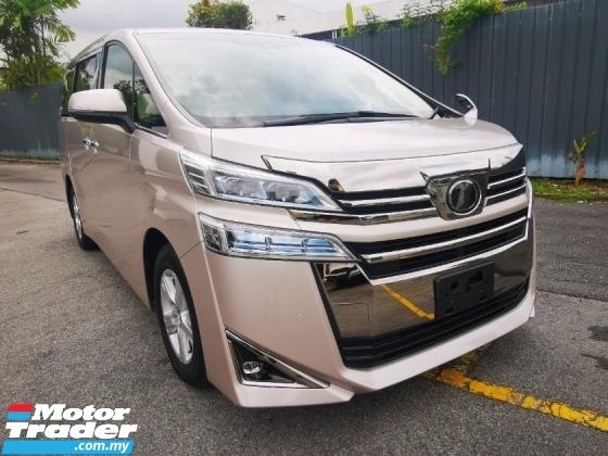 Rm 208 000 2018 Toyota Vellfire 2 5 X 8 Seater Jp Spec
