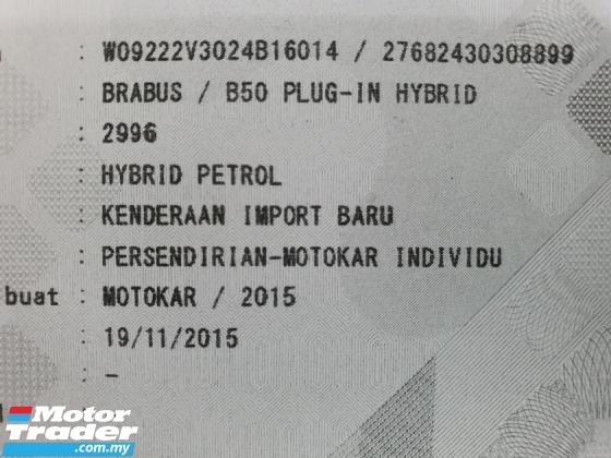2015 MERCEDES-BENZ S-CLASS Brabus B50 *49K KM* 1 VVIP Owner