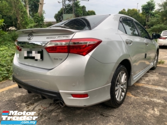 2016 TOYOTA COROLLA ALTIS 1.8 G SPORTY Fully Service Toyota