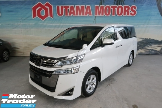 2018 TOYOTA VELLFIRE 2.5 X 8 SEATER 1PD CNY SALE SPECIAL DISCOUNT MORE