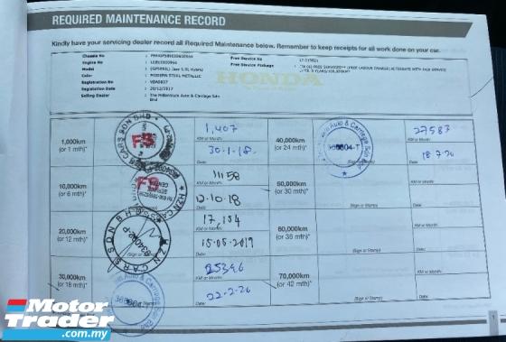 2018 HONDA JAZZ 1.5 HYBRID (A) FULL SERVICE RECORD **