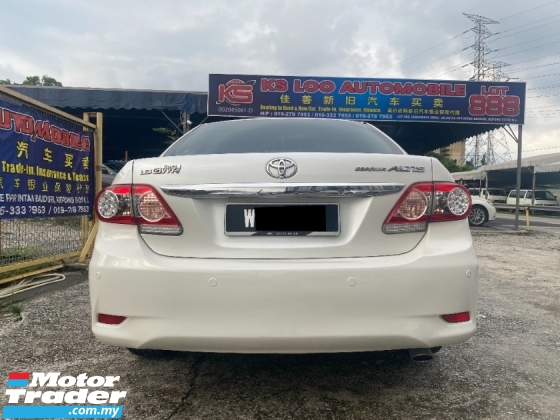 2012 TOYOTA COROLLA ALTIS 1.8 G (A) ALL PROBLEM CAN LOAN