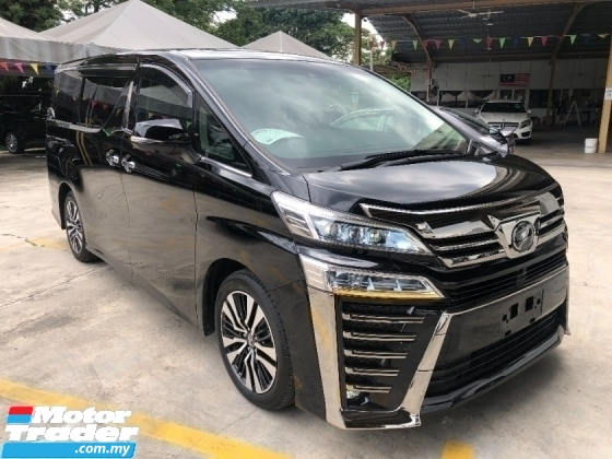 2019 TOYOTA VELLFIRE 2.5 ZG 3 LED Full Alpine Player Set Sun Roof Moon Roof 360 Camera Full Leather Pilot Seat PCS LKA