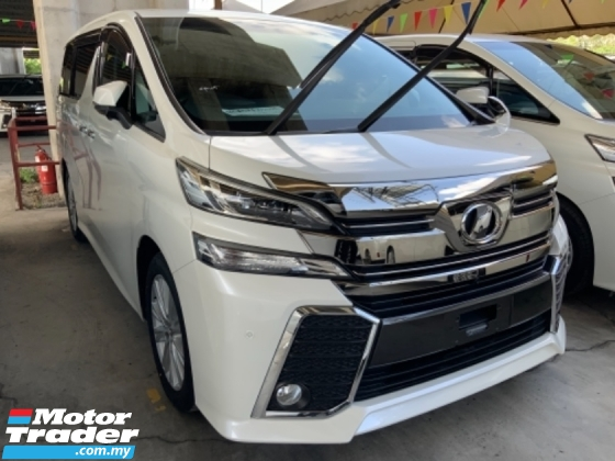 2016 TOYOTA VELLFIRE 2.5 Z Nice spec and condition Surround camera power boot 7 seaters 2 power doors Many unit Unreg